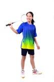 Jogador do badminton na ação Imagem de Stock