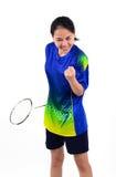 Jogador do badminton na ação Fotos de Stock