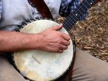 Jogador do banjo Fotos de Stock Royalty Free