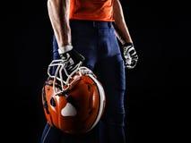 Jogador do desportista do futebol americano Imagem de Stock Royalty Free