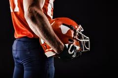 Jogador do desportista do futebol americano Imagens de Stock
