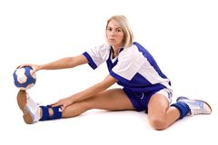 Jogador do handball Imagem de Stock Royalty Free