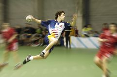 Jogador do handball Imagens de Stock Royalty Free