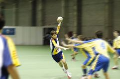 Jogador do handball Fotografia de Stock Royalty Free