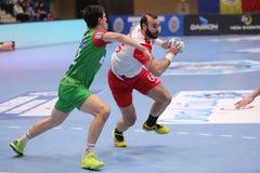 Jogador do handball Fotos de Stock Royalty Free