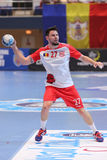 Jogador do handball Foto de Stock