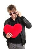 Jogador do homem do dia dos Valentim imagens de stock