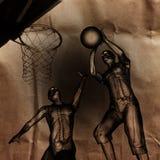 Jogador do jogo de basquetebol pintado Fotos de Stock