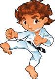 Jogador do karaté do bebê ilustração stock