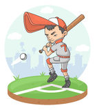 Jogador do menino do basebol Fotos de Stock Royalty Free