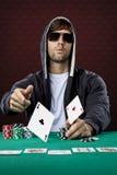 Jogador do póquer Fotos de Stock Royalty Free