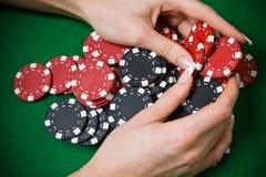 Jogador do póquer Imagem de Stock
