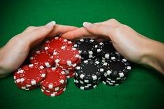Jogador do póquer Foto de Stock Royalty Free