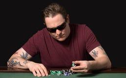 Jogador do pôquer Imagem de Stock Royalty Free
