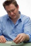 Jogador do pôquer Foto de Stock