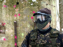 Jogador do Paintball Fotografia de Stock Royalty Free