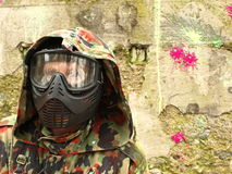 Jogador do Paintball Foto de Stock