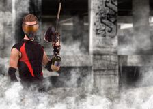 Jogador do Paintball fotos de stock royalty free
