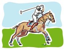 Jogador do polo ilustração royalty free