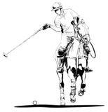 Jogador do polo ilustração stock