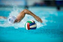 Jogador do polo aquático fotografia de stock royalty free