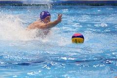 Jogador do polo aquático Imagem de Stock