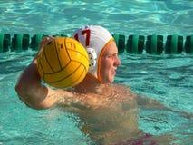 Jogador do polo de água Fotografia de Stock