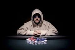 Jogador do póquer Fotografia de Stock