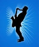 Jogador do saxofone Imagens de Stock Royalty Free