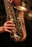 Jogador do saxofone fotografia de stock royalty free
