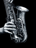 Jogador do saxofone Fotos de Stock