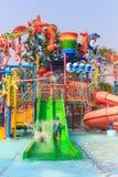 Jogador do slider do parque de diversões imagens de stock royalty free