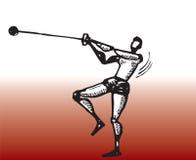 Jogador do throw de martelo Fotos de Stock Royalty Free