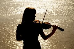 Jogador do violino Imagens de Stock Royalty Free