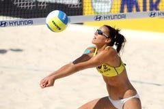 Jogador espanhol Alejandra Simon da salva da praia Imagem de Stock