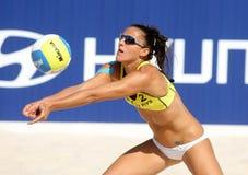 Jogador espanhol Alejandra Simon da salva da praia Imagem de Stock Royalty Free