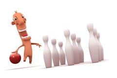 Jogador feliz dos desenhos animados. Objetos sobre o branco. Fotografia de Stock Royalty Free