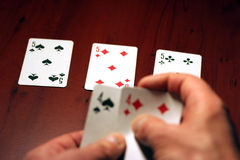 Jogador no póquer Fotos de Stock Royalty Free