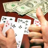 Jogador no póquer Foto de Stock