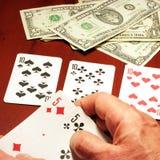 Jogador no póquer Foto de Stock Royalty Free
