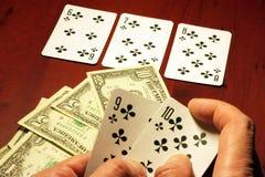 Jogador no póquer Fotos de Stock