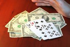 Jogador no póquer Fotografia de Stock