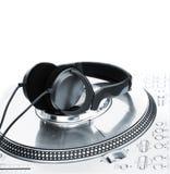Jogador profissional do vinil do DJ Fotos de Stock Royalty Free