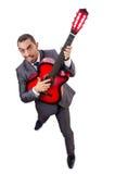 Jogador quitar do homem de negócios isolado Fotografia de Stock Royalty Free