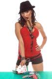 Jogador 'sexy' do póquer Imagens de Stock