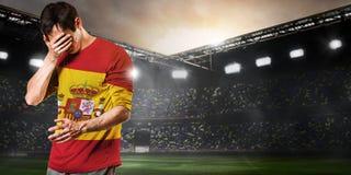 Jogador triste da Espanha Fotografia de Stock