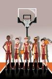 Jogadores da equipa de basquetebol Fotografia de Stock Royalty Free