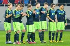 Jogadores de Ajax Amsterdam Imagens de Stock