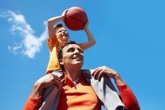 Jogadores de basquetebol Imagens de Stock