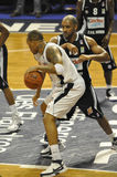 Jogadores de basquetebol Fotografia de Stock Royalty Free